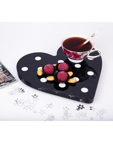 3Wdesign Mermer Kalp Sunumluk Siyah